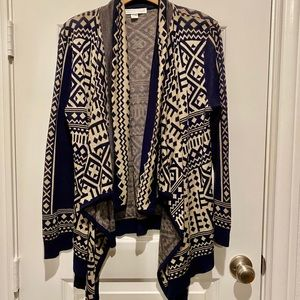 Women's Open Front Sweater Size Large